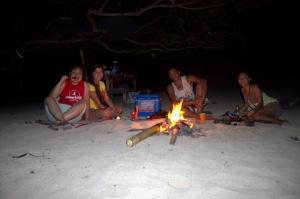 Hotdogs and Bonfire