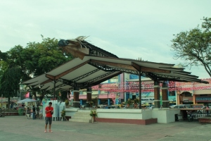 stage with a Philippine eagle's head