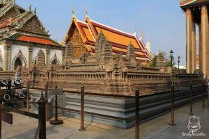replica of Angkor Wat in Cambodia