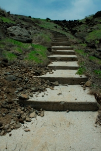 cemented stairs going to the lighthouse