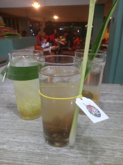 sated drinks - cucumber with honey, sweet and sour candied camias with honey, calamansi and jackfruit with honey